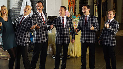 the moonRays singing on the tv show the league
